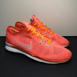 Nike Free 5.0 TR Fit 5 Breathe Lava Running Shoes / Size 8.5